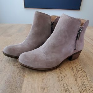 Lucky Brand leather/suede booties size 6